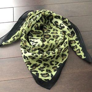 FREE W PURCH Green Cheetah Scarf